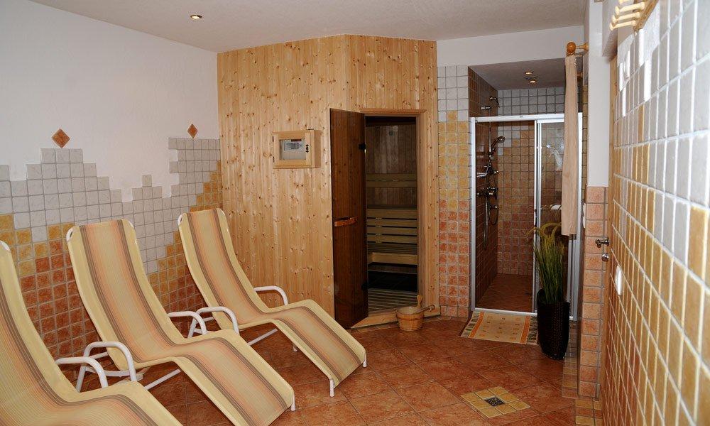 Zur Ruhe kommen in der hauseigenen Sauna